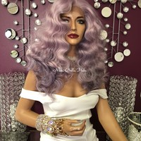"Purple Long Swiss Lace Front Wig 18"" 0818 6 ON SALE"