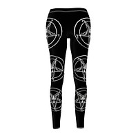 Sigil of Baphomet Women's Cut & Sew Casual Leggings