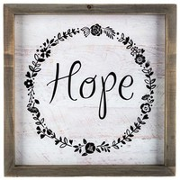 Hope Wood Sign with Floral Wreath | Shop Hobby Lobby