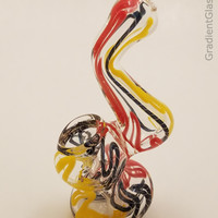 Multicolor Glass Bubbler