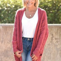 Find Your Path Cardigan - Marsala