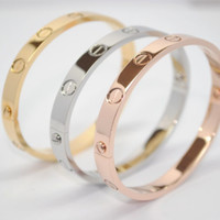 with SCREWDRIVER NEW MODEL Screw Detail Love Bracelet Silver Gold Silver and Rose 316L Titanium Stainless Steel Bracelet Bangle