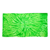 Tie-Dyed - Cyclone Beach Towel-Bright Green