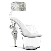 Revolver -712 Gun Heel And Ankle Cuff Sandal By Pleaser Usa