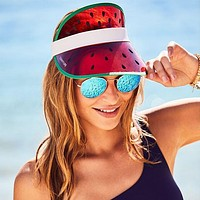 Retro Sun Visor Watermelon