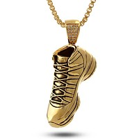 14K Gold High Top Sneaker Necklace