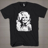 Dolly Parton  Mens and Women T-Shirt Available Color Black And White