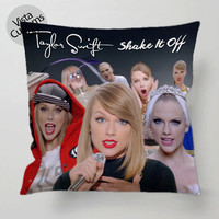 Taylor Swifts Shake It Off Collage pillow case, cover ( 1 or 2 Side Print With Size 16, 18, 20, 26, 30, 36 inch )