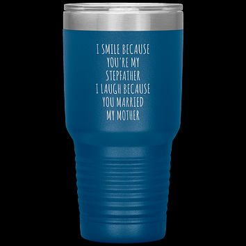 Stepdad Gift for Fathers Day Stepfather Tumbler Travel Coffee Cup 30oz BPA Free