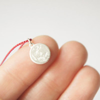 UNDER THIS MOON / Personalized Necklace  moon phase by gemagenta