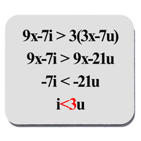 Romantic Algebra Love Equation Mouse Pad