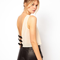 ASOS Crop Top with Bow Back