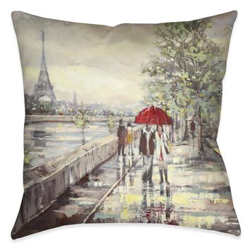 Paris Stroll Indoor Decorative Pillow