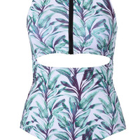 Cupshe New Leaf Cutout One-piece Swimsuit