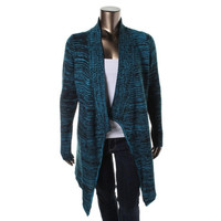 One A Womens Marled Open Front Cardigan Sweater