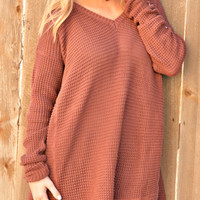 Simply Must Have Sweater - Brick