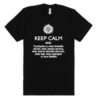 Supernatural Speaking Latin - Exorcism-Unisex Black T-Shirt
