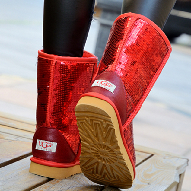 """Image of """"UGG"""" Women Fashion Wool Snow Boots Calfskin Shoes"""