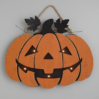 Pumpkin LED Light Up Hanging Decor