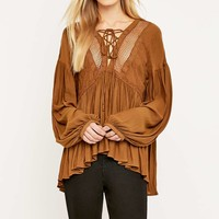 Free People Chiffon Peasant Top - Urban Outfitters