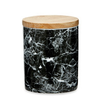 Black & White Marble Pattern Canister | Tall