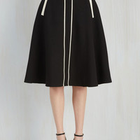Long Full Roving Reporter Skirt in Black