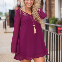 Free Flowing Dress, Purple
