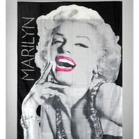 Marilyn Monroe Rose Lips Wall Banner