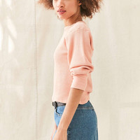 Urban Renewal Remade Overdyed Thermal Top - Urban Outfitters