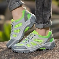 2017 Women Hiking Sneakers Low-cut Sport Shoes Breathable Professional Hiking Shoes Women Athletic Outdoor Flats Shoes for Men