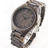 Bamboo Watch with Leather Belt 011