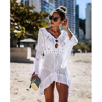 Women Swimsuit Cover-up Beach Bathing Suit