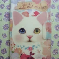 Cat STICKER PACK 8 sheets with lovely folder/Korean Sticker Pack/Sticker Pack/Cat stickers PLANNER/Cat sticker book