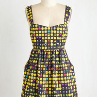 Quirky Sleeveless A-line Reinventing the Feel Dress