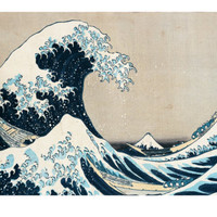 The Great Wave of Kanagawa, from the Series 36 Views of Mt. Fuji (Fugaku Sanjuokkei) Giclee Print by Katsushika Hokusai