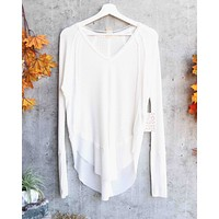 Free People - Catalina Long-Sleeve Thermal Top in Ivory