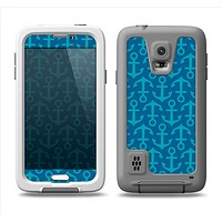 The Blue Anchor Collage V2 Samsung Galaxy S5 LifeProof Fre Case Skin Set