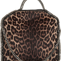 Stella McCartney - The Falabella leopard-print faux calf hair shoulder bag