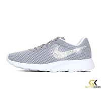 Women's Nike Tanjun + Crystals - Grey