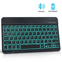 Mini Bluetooth keyboard RGB Wireless Keyboard With Backlight Russain Notebook ipad keyboard For Tablet Phone Laptop PC Computer