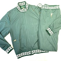 Prestige Green Perforated Greek Key Jogger Set