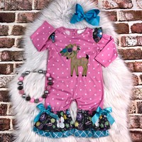 RTS Fawn of You Romper! D29