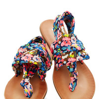 ModCloth Festival Stay in the Loop Sandal in Navy Floral
