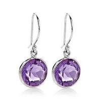 5.00 Ct Natural Purple Amethyst 9mm Round 925 Silver Dangle Earrings on eBay Daily Deals