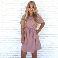 At My Best Pink Woven Dress