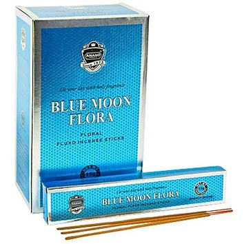 Blue Moon Flora Incense - 15 Sticks Pack (12 Packs Per Box)
