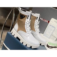 Prada Women's Leather Fashion Boots Shoes