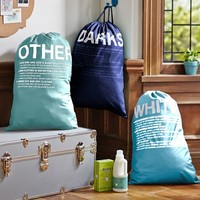 Easy Sort Laundry Bags, Set of 3, Cool