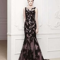 2014 Long Black Lace Wedding dress Bridal Ball gown Prom Party Evening Formal