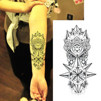 2pcs Fake Temporary Arm Transfer Tattoo Stickers Totem Men Spray Waterproof Tattoo